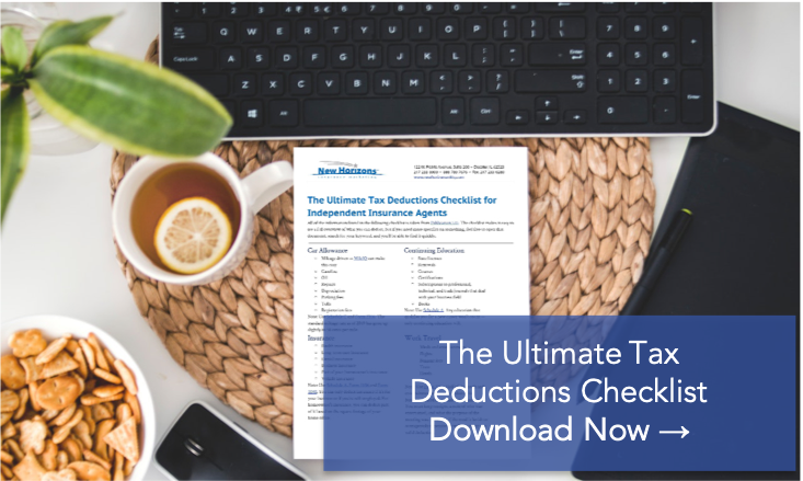 The Ultimate 2021 Tax Deductions Checklist For Independent Insurance Agents