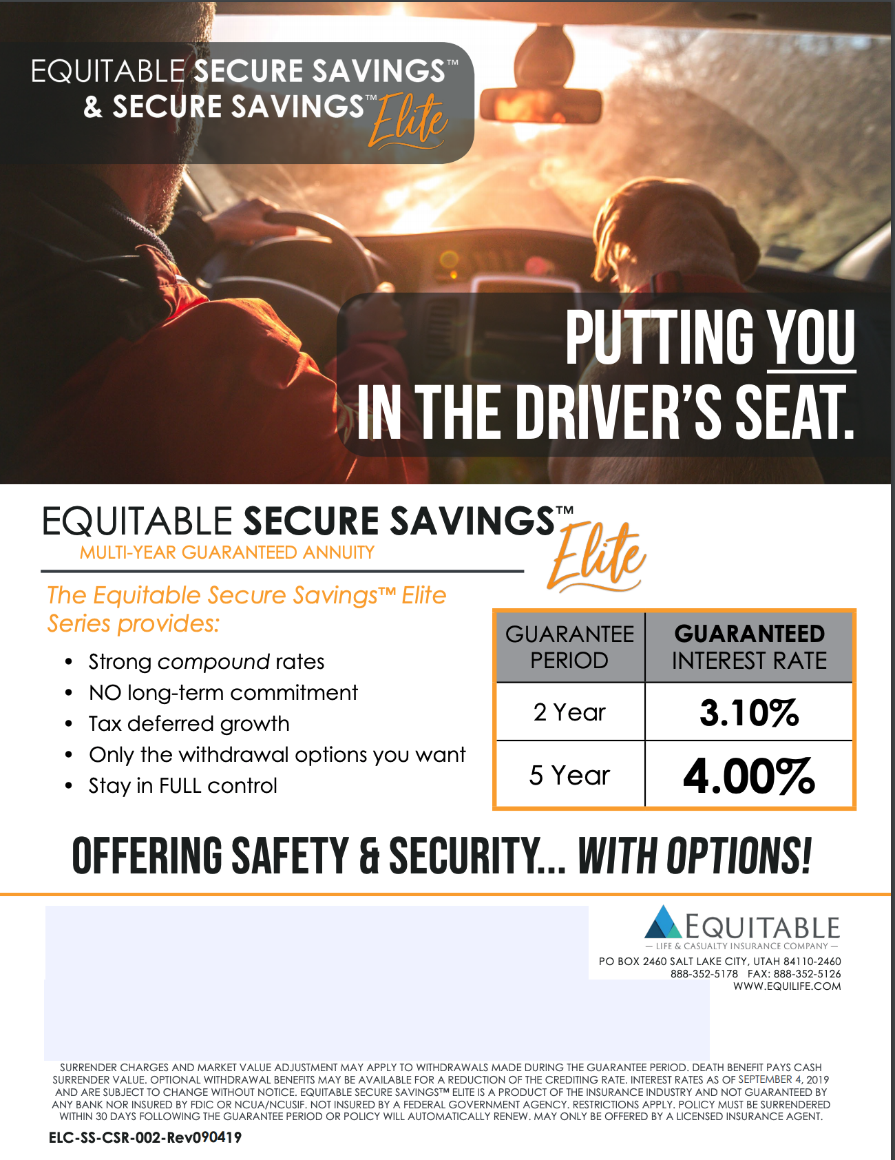 Equitables Secure Savings Annuity Flyers