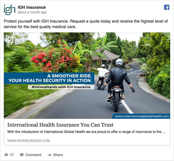 IGH Insurance Ad