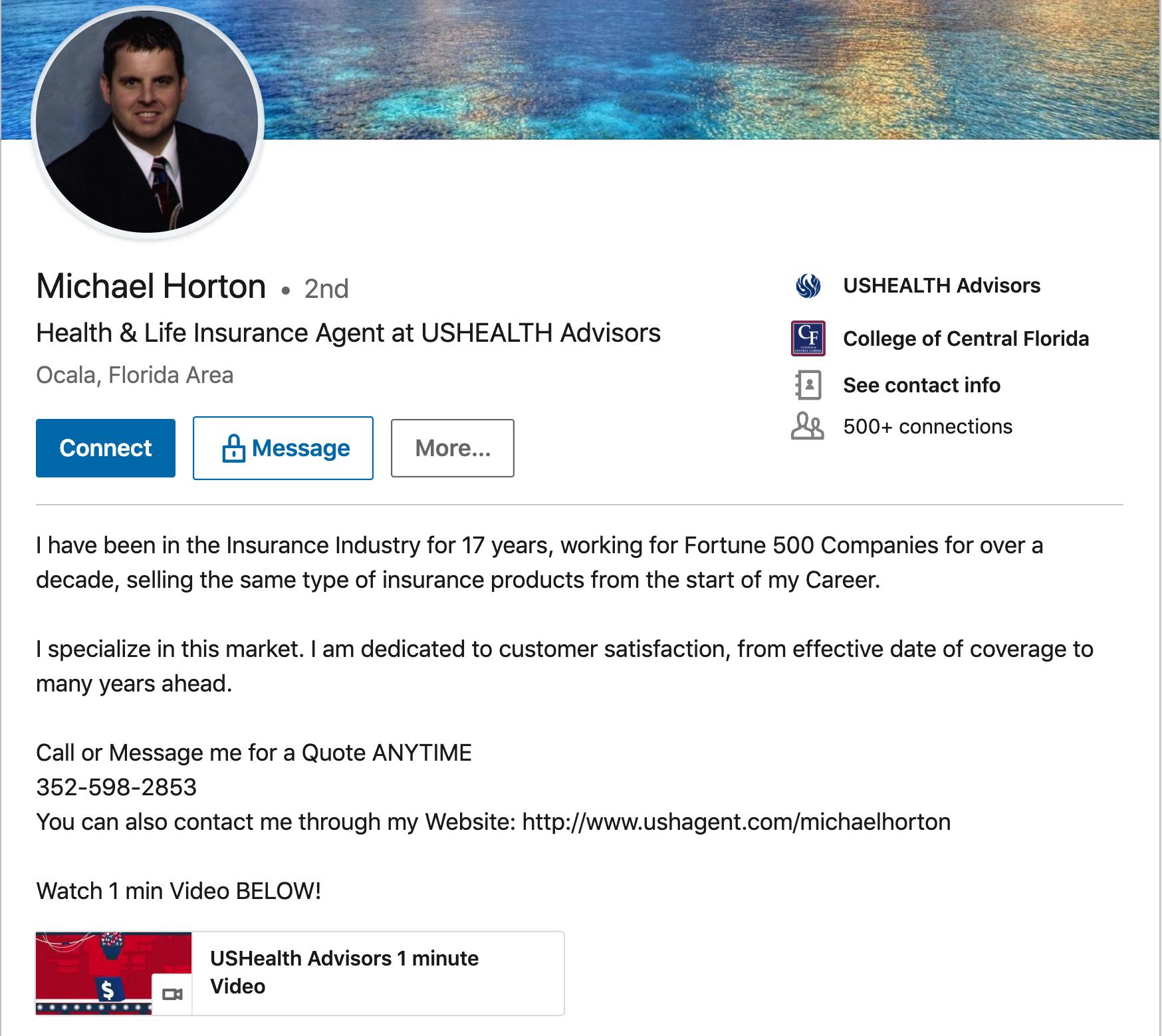 Insurance-Agent-LinkedIn-Summary-Examples