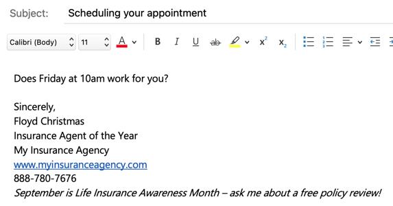 LIAM email signature