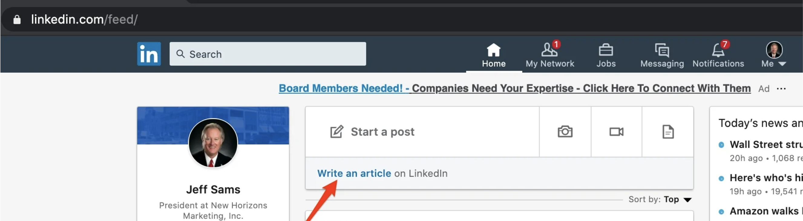 New-write-an-article-view-on-LinkedIn-for-agents