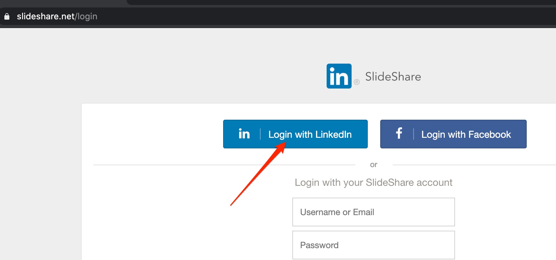 Slideshare-for-Agent-Recruiting-Log-In-with-LinkedIn-Credentials