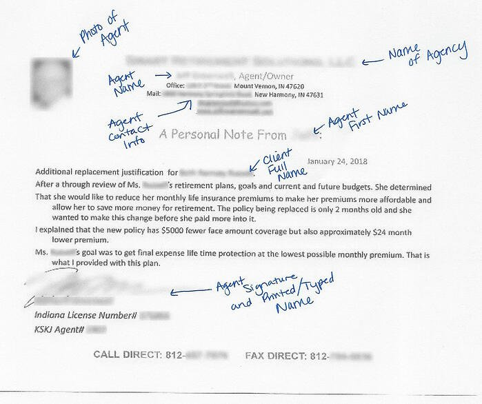 Personal Note Example with Annotations