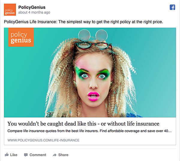 Policy Genius Facebook Ad