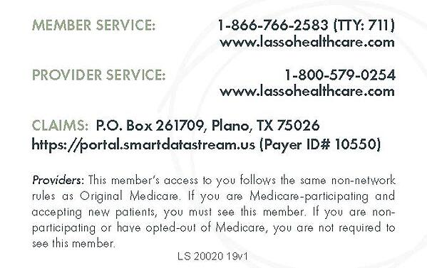 Sample Lasso Healthcare ID Card_Page_2