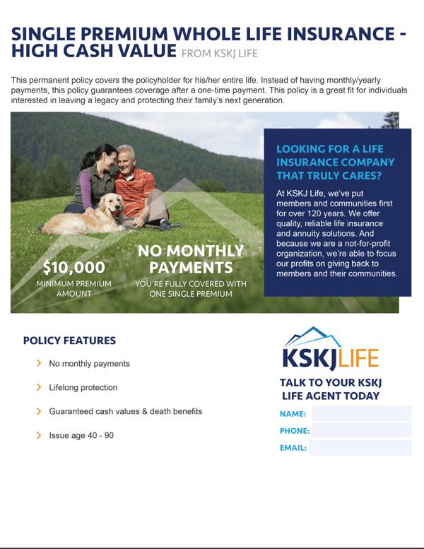 Single Premium Life Client Leave Behind