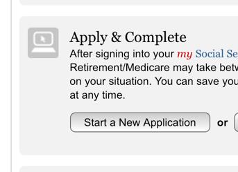 Start a New Medicare Application