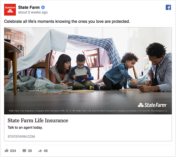 State Farm Facebook Ad