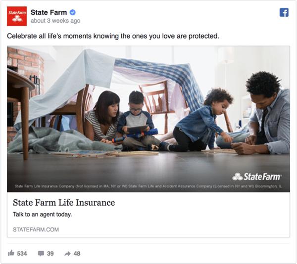 State Farm Facebook Ad