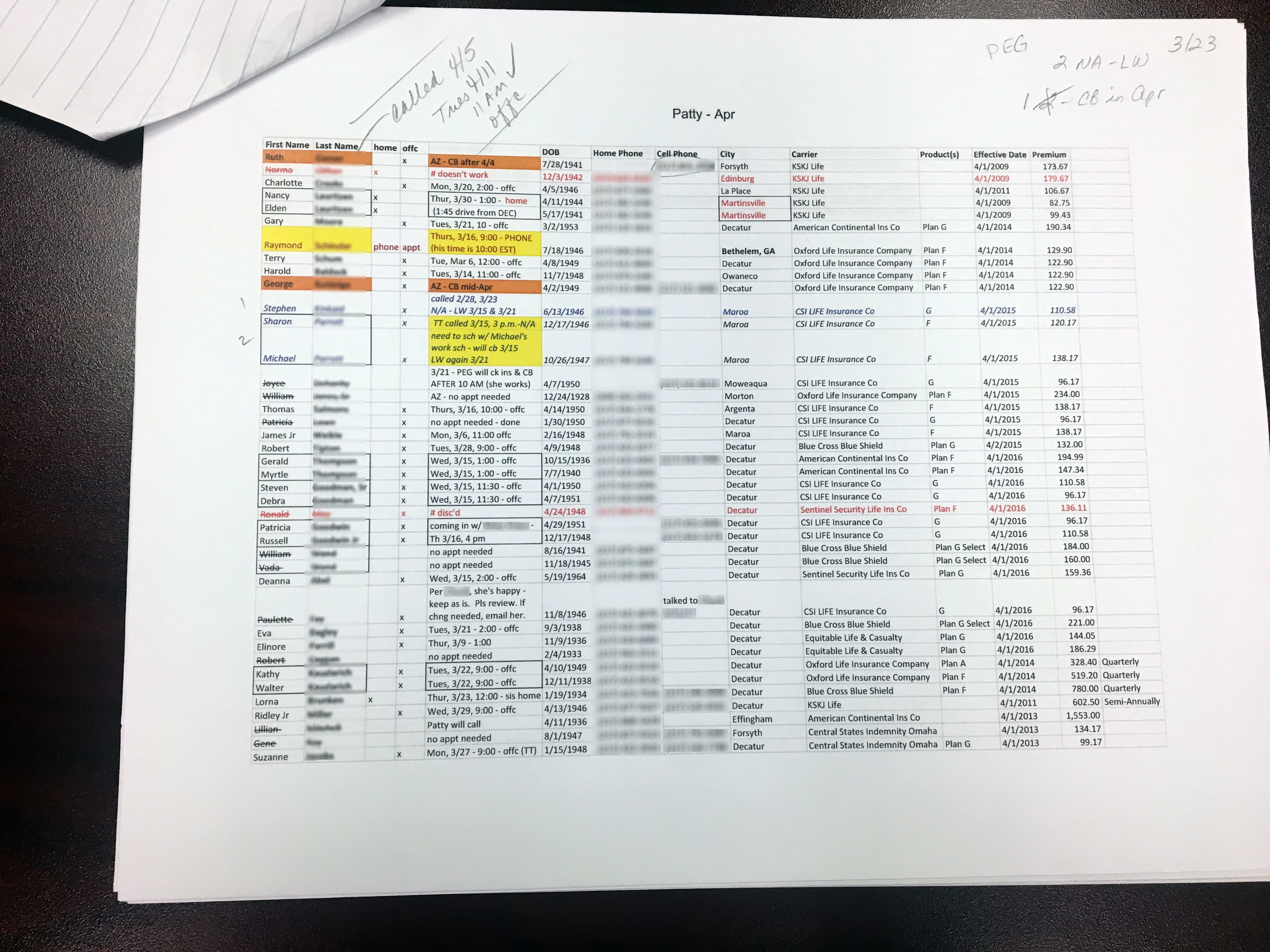 CRM Report Printout for Intern