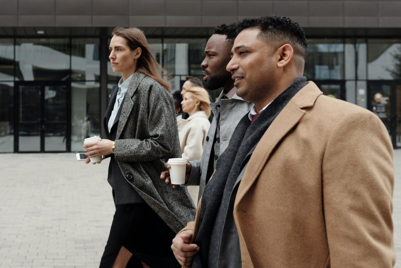 walking meeting example for insurance agencies