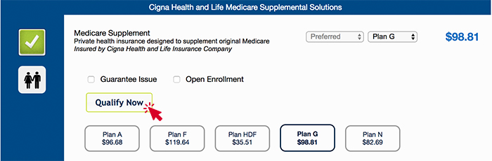 Cigna Prequalify on Express App