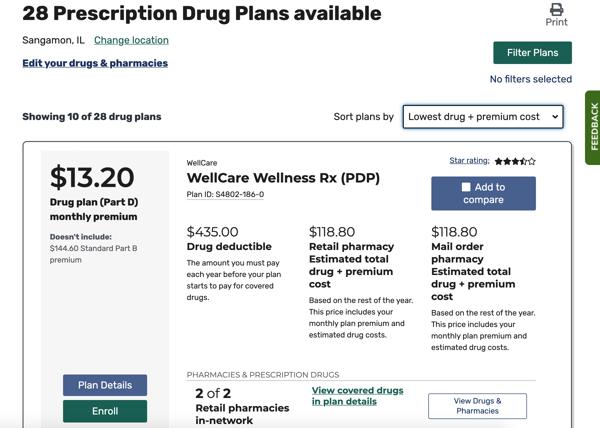 Medicare Plan Finder step 6-1